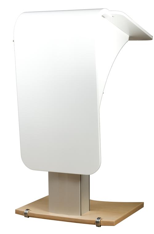 Access Rednerpult weiß elektrisch höhenverstellbar barrierefrei für Rollstuhlfahrer