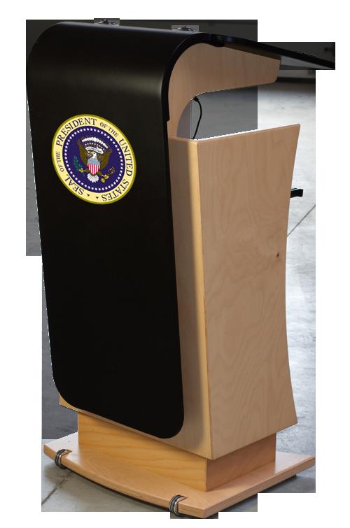 President Rednerpult weiß elektrisch höhenverstellbar