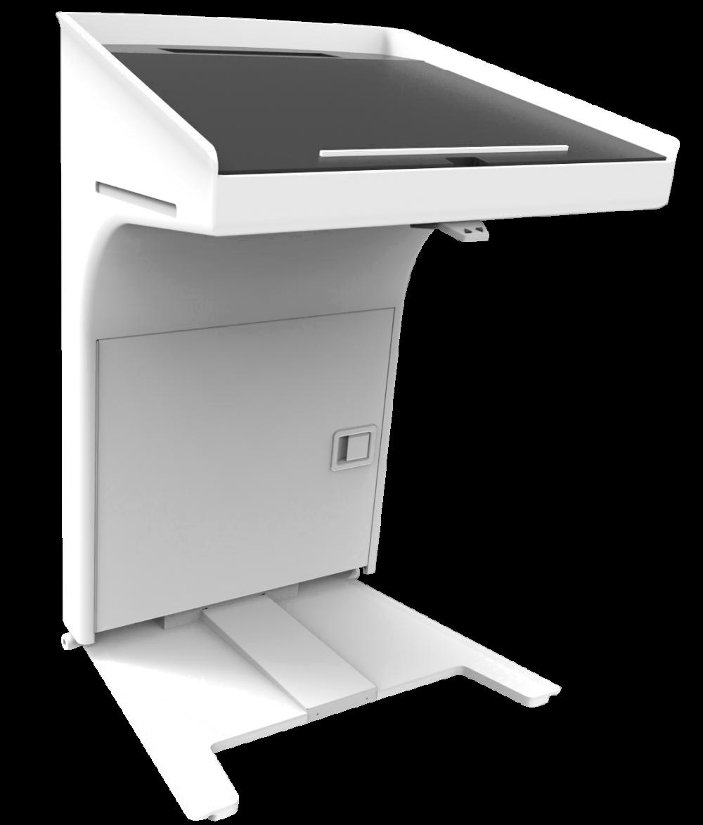 KANZLER Rednerpult weiß elektrisch höhenverstellbar